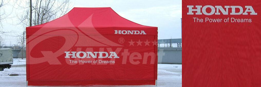 Carpa plegable de 4x6m rotulada para Honda