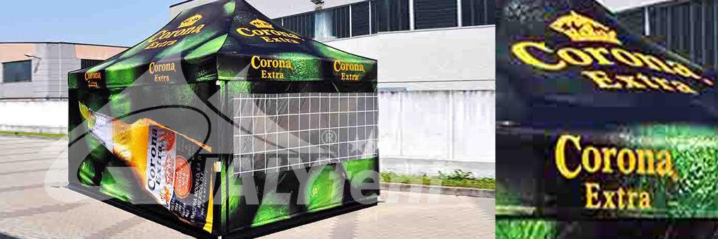 Impresión digital de una carpa de 3x4.5m Qualytent para Corona