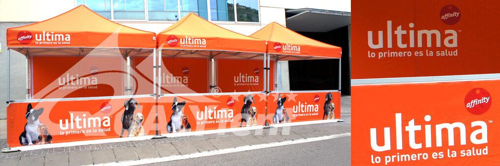 Tiendas plegables de 3x3 full print para Ultima de Affinity