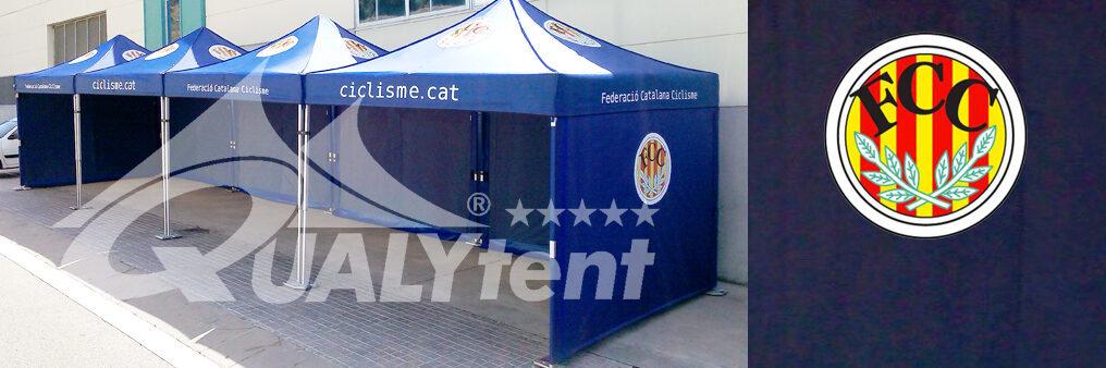 Carpas plegables de 3x3m Qualytent para la Federació Catalana de Ciclisme