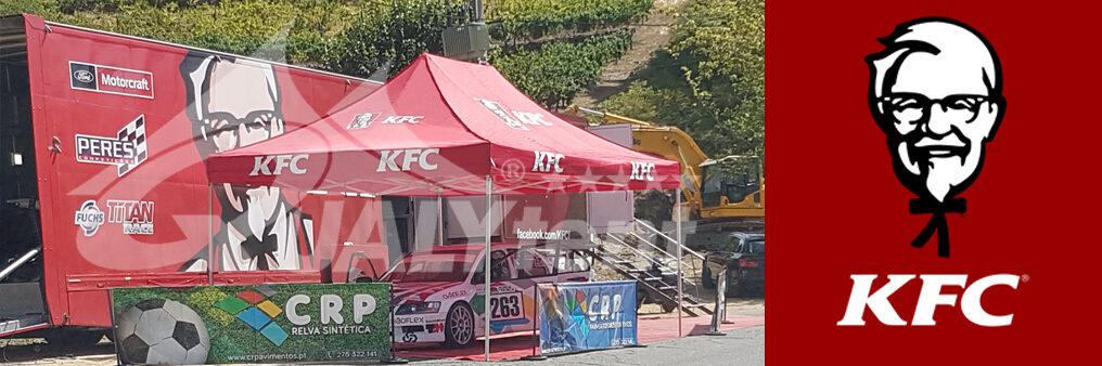 Carpa plegable de 4x6m Premium estampada para KFC