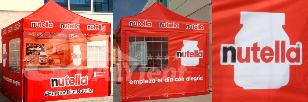 Carpas personalizadas, carpa plegable 3x3m Nutella