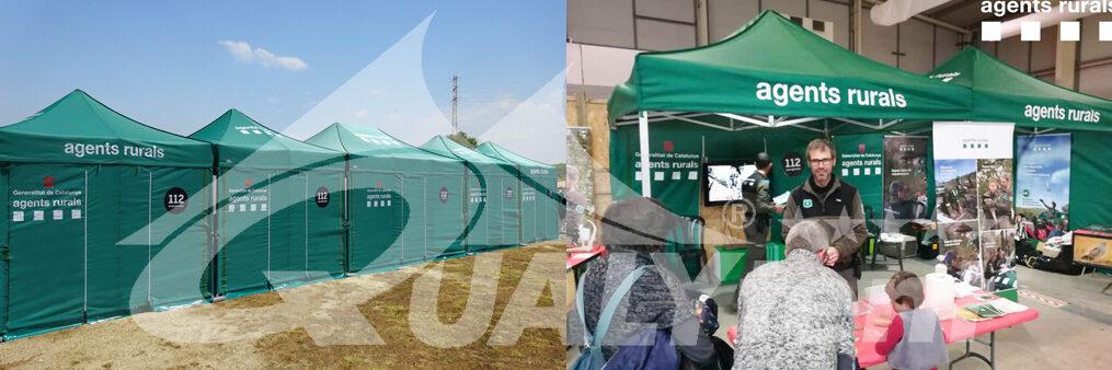 Carpas plegables de 3x3m para Agents Rurals de Catalunya