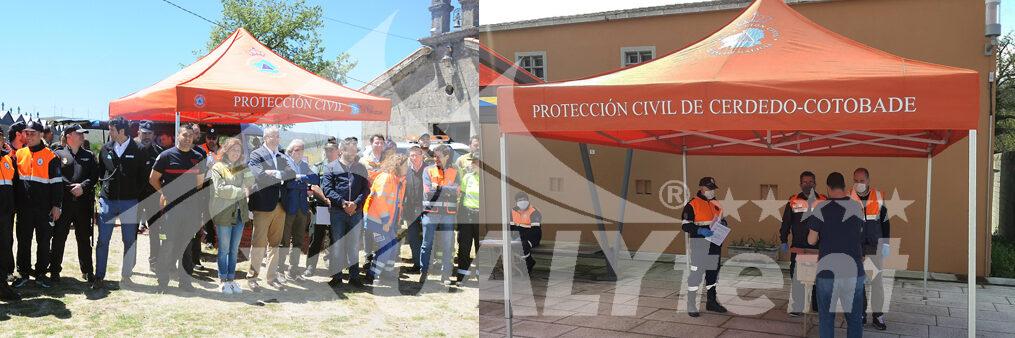 Carpas plegables para Protección Civil Xunta de Galicia