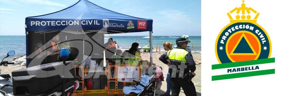 Carpas plegables para la Protección Civil de Marbella
