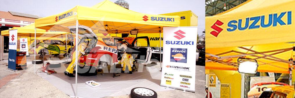 Carpas plegables customizadas para Suzuki