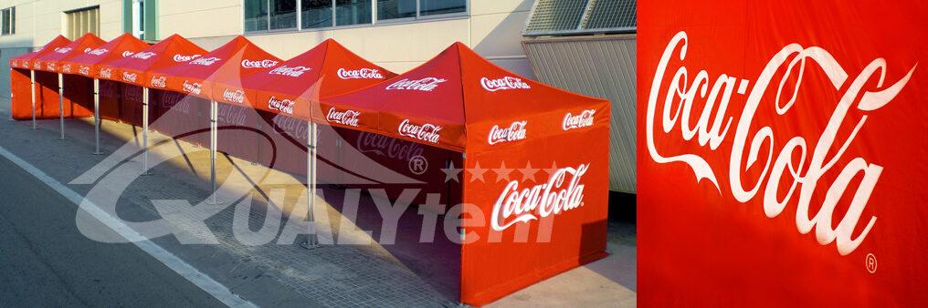 Carpas plegables de 3x3m personalizadas para Coca Cola