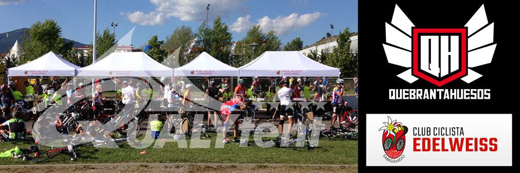 Carpas plegables de 3x3m Premium para ciclismo