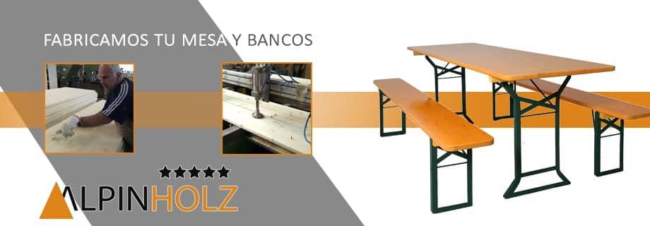 Mesas plegables de madera Alpinholz