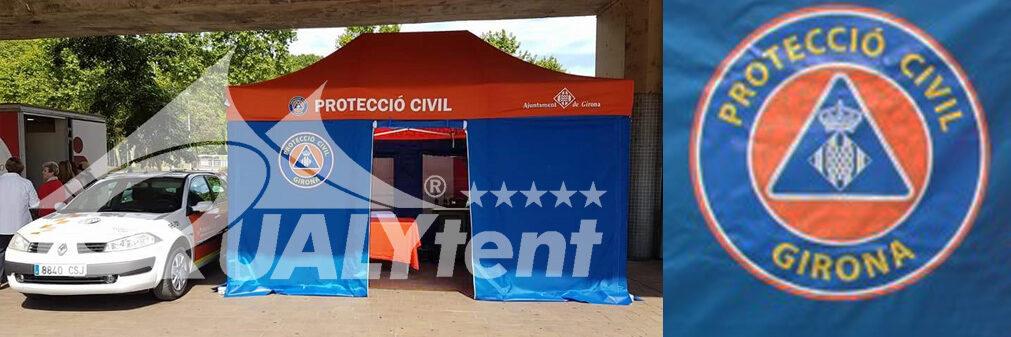Carpa plegable de 3x4.5m para la Protección Civil de Girona