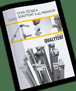 Ficha técnica carpa plegable de 3x3m Premium