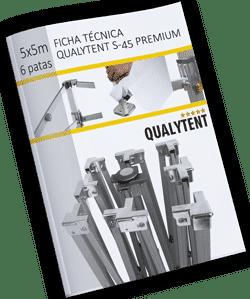 Ficha técnica carpa plegable de 5x5m Premium (6 patas)