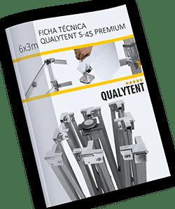 Ficha técnica carpa plegable de 6x3m Premium