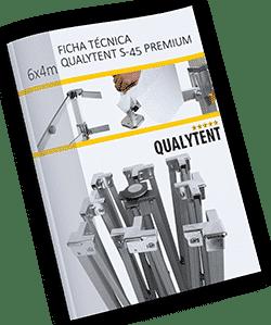 Ficha técnica carpa plegable de 6x4m Premium