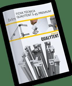 Ficha técnica carpa plegable de 4x8m Premium
