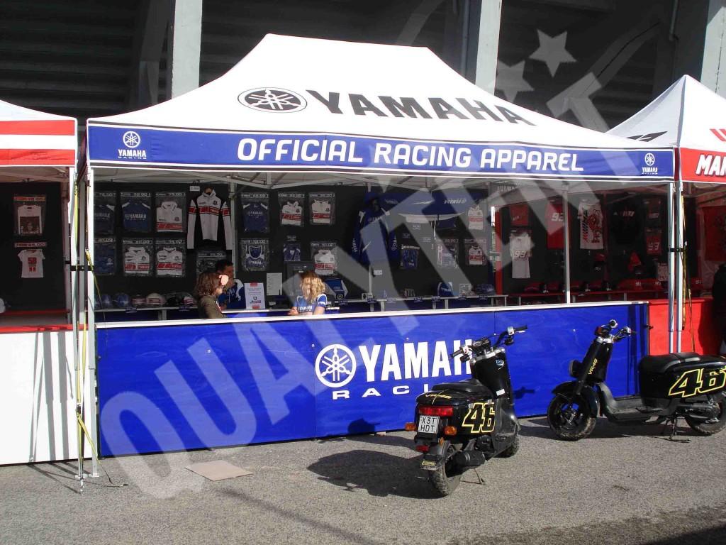 Carpas personalizadas Yamaha, carpas de 6x4m para motor
