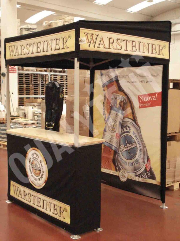 Carpas plegables personalizadas Warsteiner de 1.5x1.5m Premium
