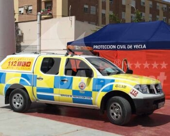 Carpa plegable 3x6m protección civil Yecla