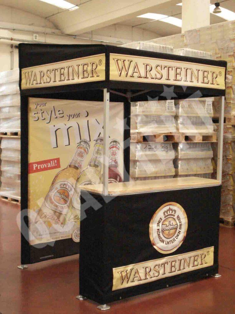 Carpa plegable de 1.5x1.5m con estampacion Warsteiner