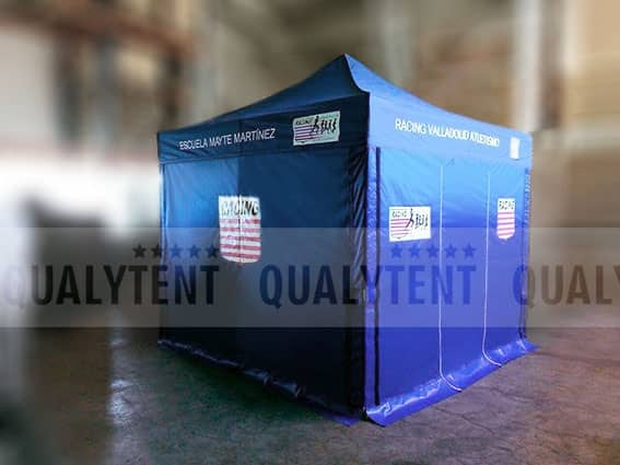 Carpa plegable de 3x3m Qualytent, carpa personalizada Escuela Atletismo Mayte Martinez