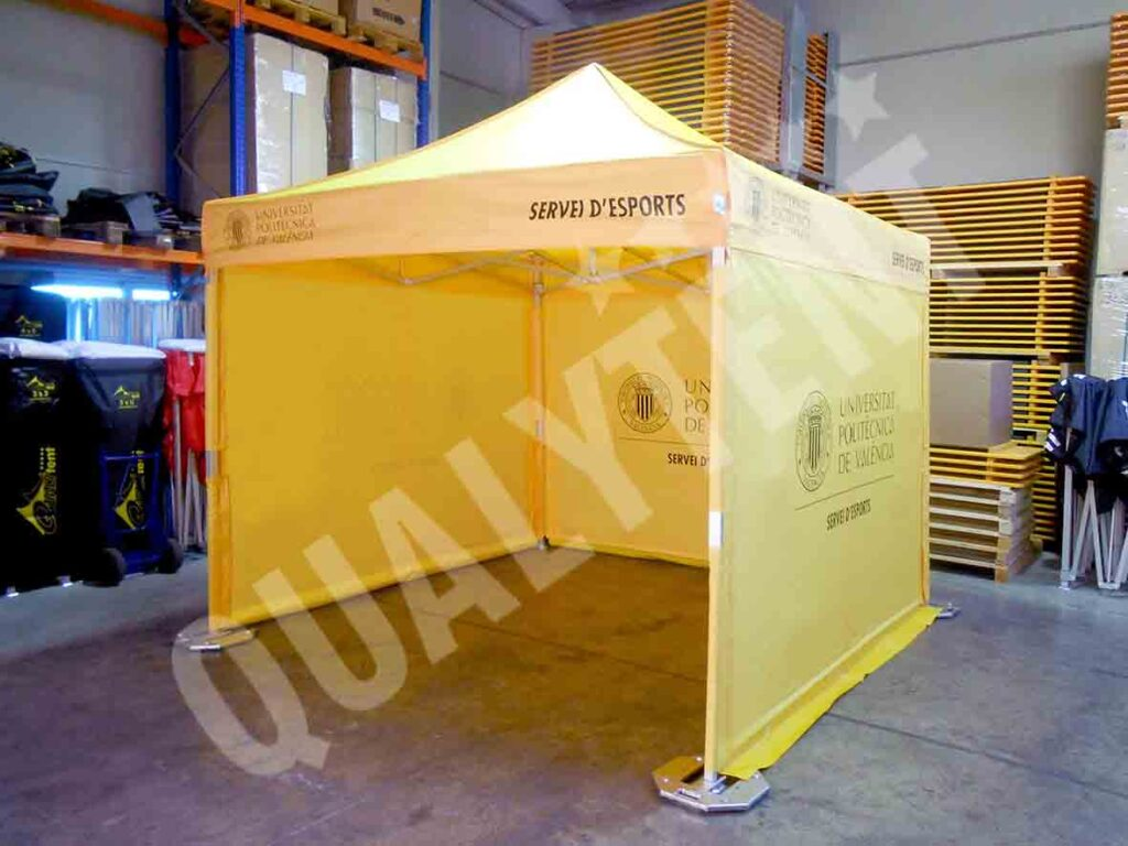 Carpa premium de color amarillo de Qualytent