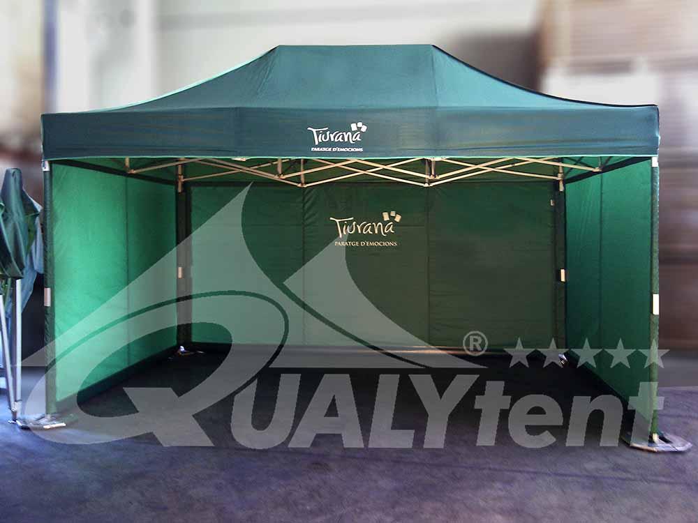 Carpa verde de 3x4.5m personalizada de Qualytent