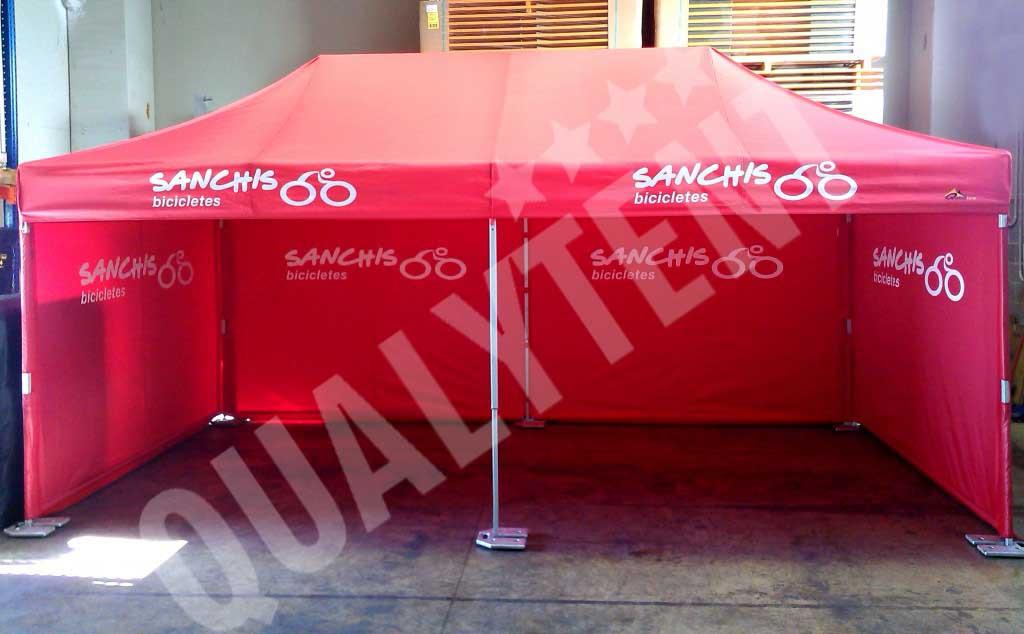Carpas plegables rojas de 3x6m Premium