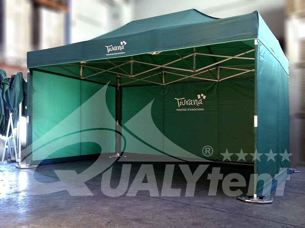 Carpa personalizada para el Ayuntamiento de Tiurana, carpas verdes