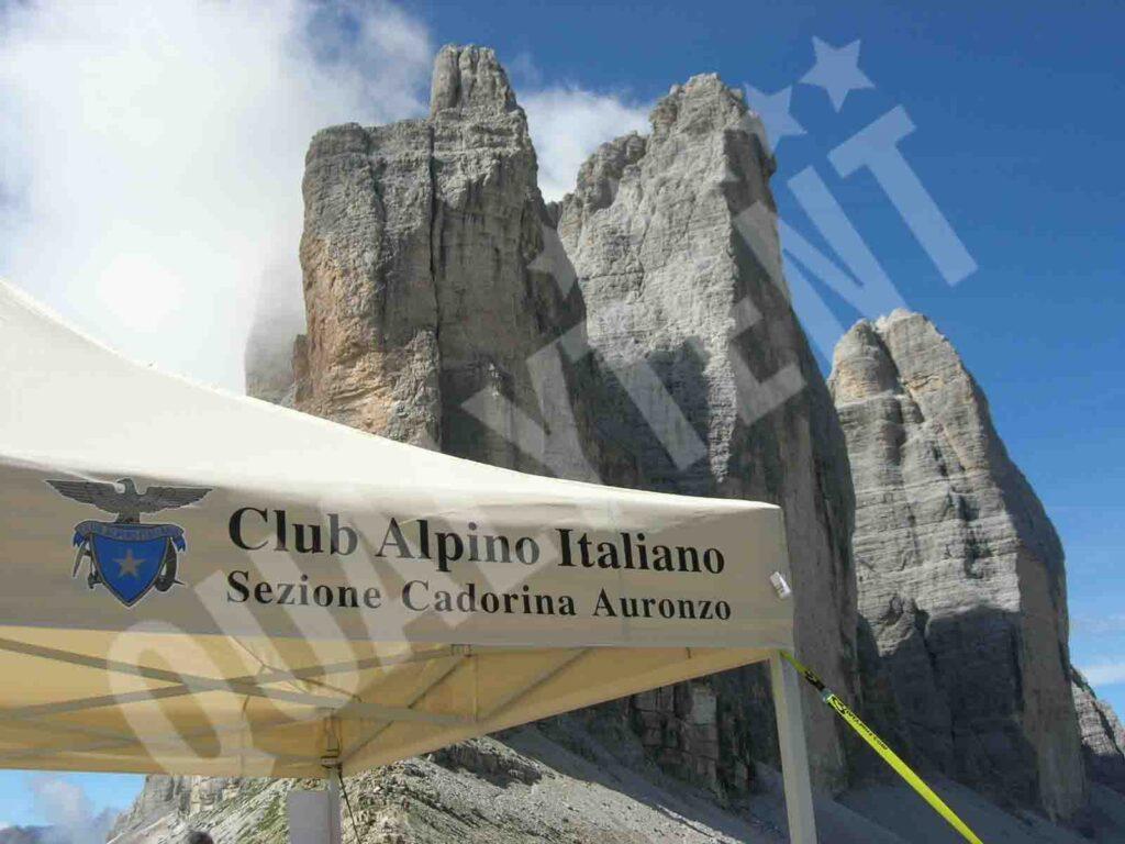 Carpa personalizada para Club Alpino de 4x4m