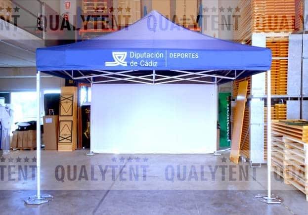 Carpa plegable de 4x4m personalizada Diputación de Cádiz