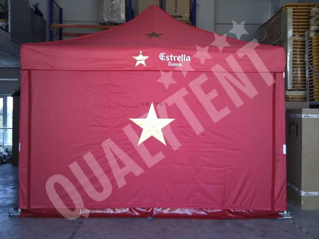 Carpa personalizada de 4x4m de color rojo