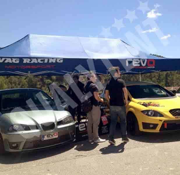 Carpa de 3x6m para carreras de motor