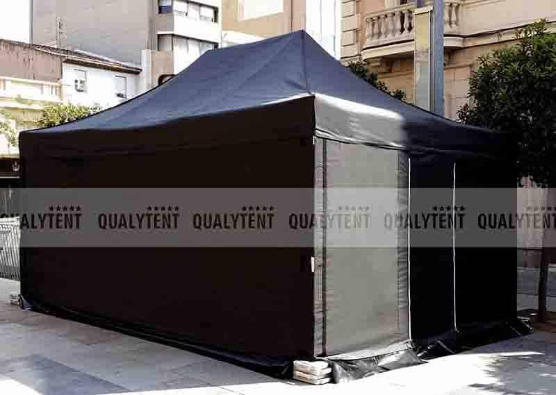 Carpa plegable negra de 4x6m para eventos