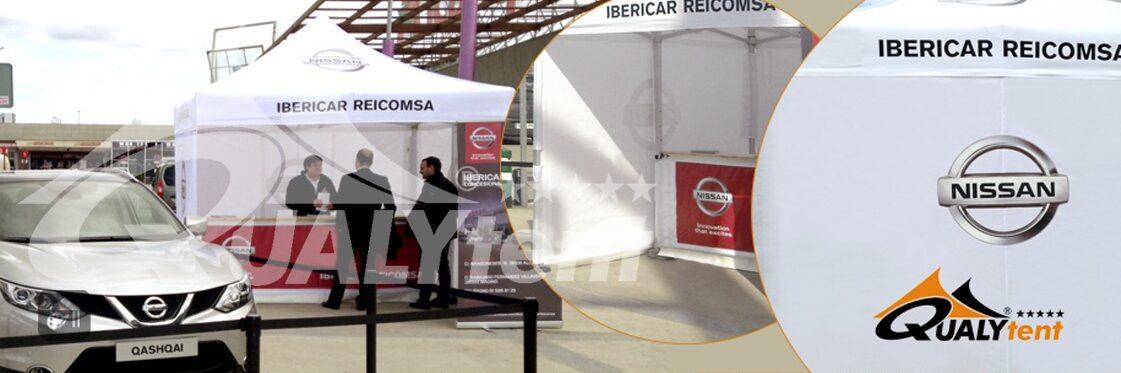 Carpa promocional 3x3 con mostrador personalizada Nissan