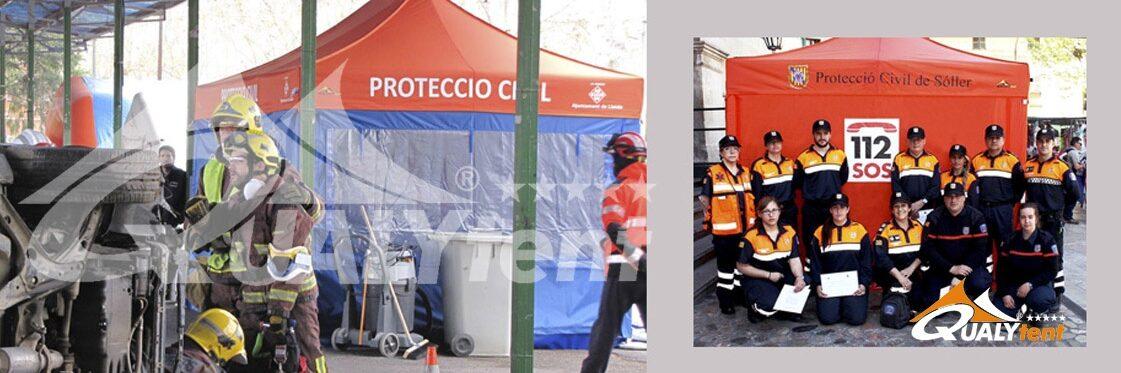 Carpas plegables para triajes y emergencias