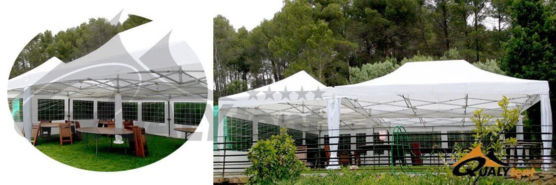 Carpas plegables de montaje modular para bodas