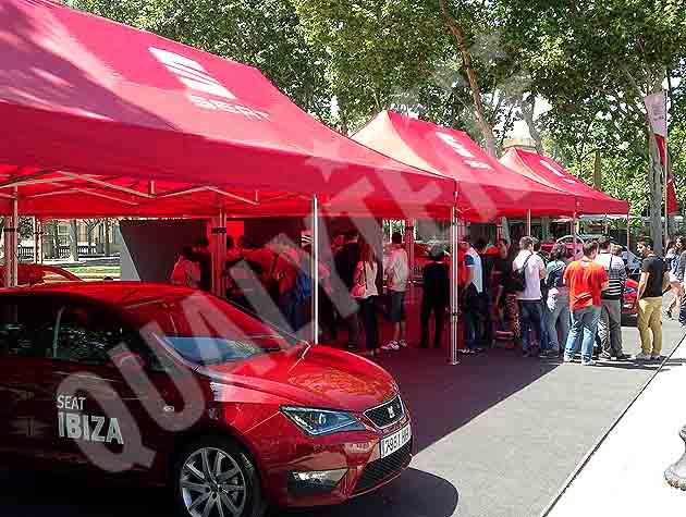 Carpas plegables de 4x8m rojas con personalización de calidad