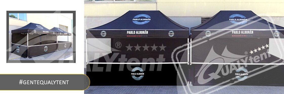 Carpas plegables de 4.5x3m personalizadas Pablo Alborán