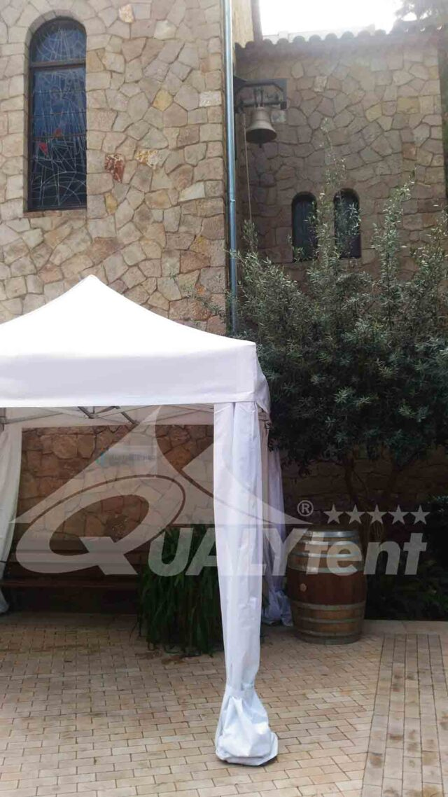 Carpa plegable de 3x3m de color blanco