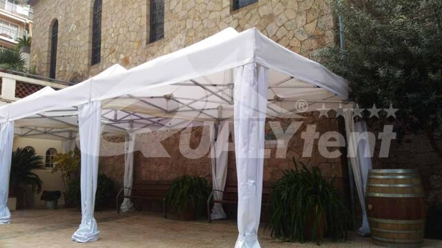 Carpas plegables modulares de 3x9 de color blanco