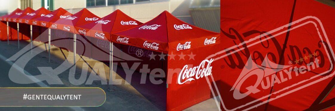 Carpas rotuladas de 3x3m para Coca Cola