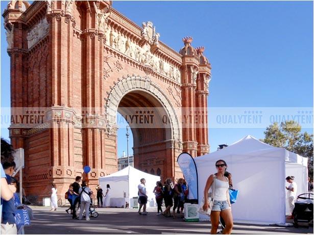 Carpas en Barcelona de 3x3m blancas