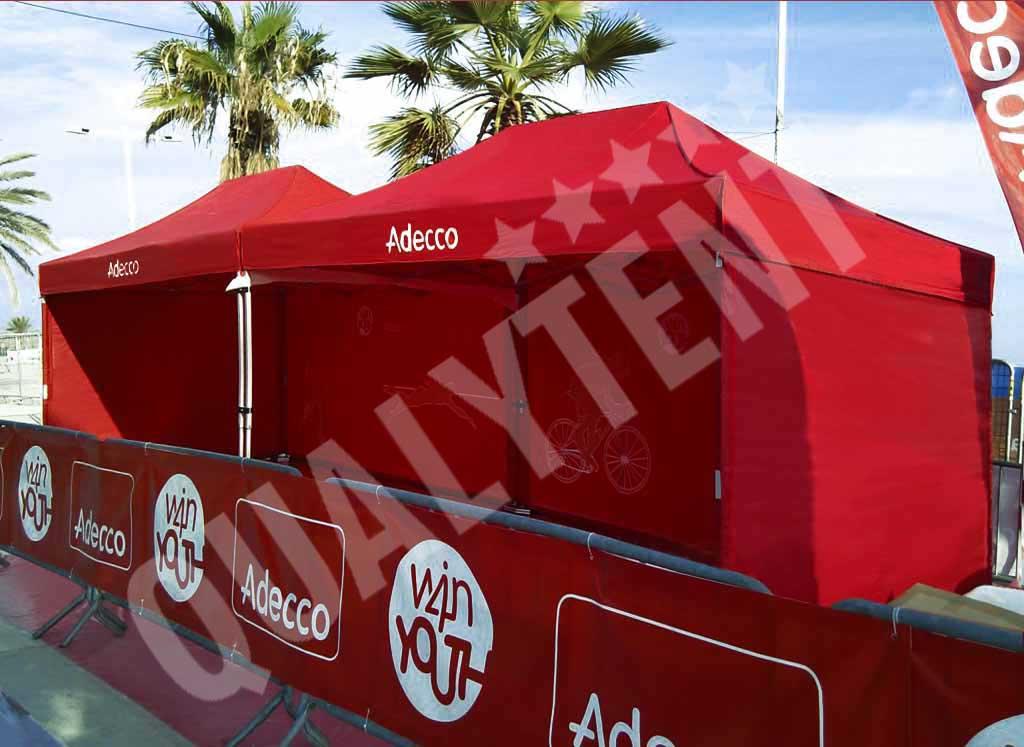 Carpas plegables de 3x4.5m personalizadas Adecco