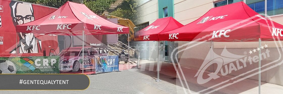 Carpas de 4x6m pealizadas full print para Kentucky Fried Chicken
