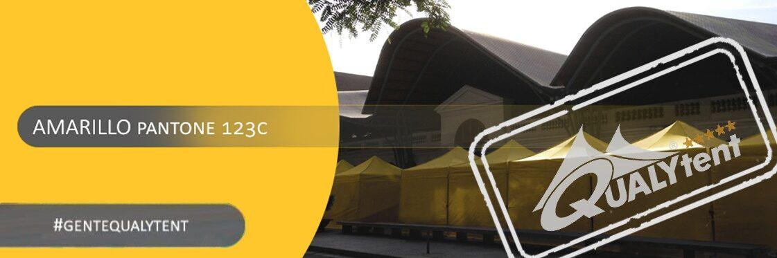 Carpas plegables amarillas Qualytent Premium