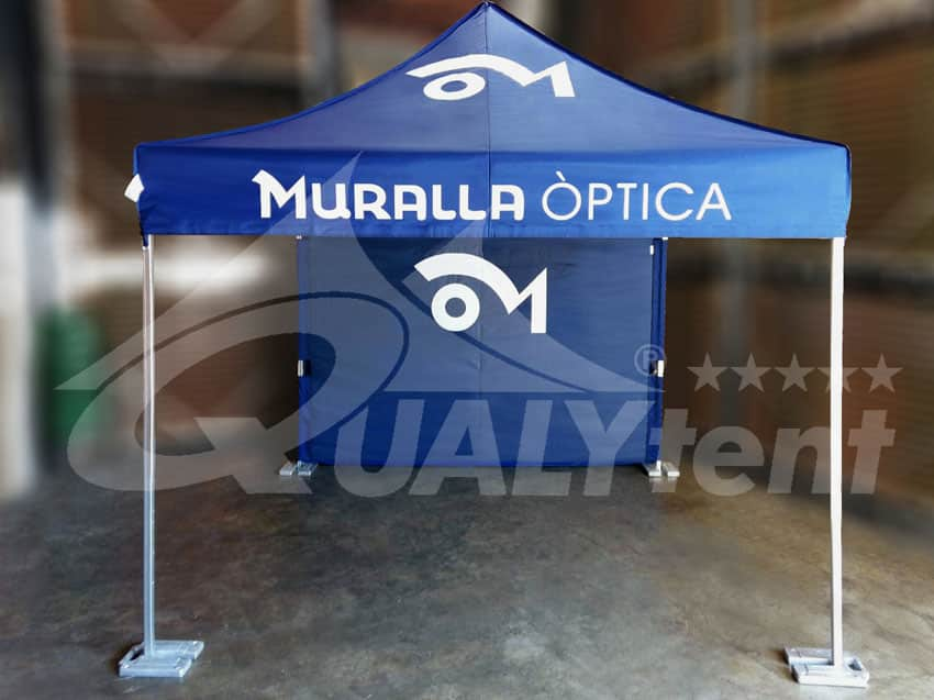 Carpa plegable de color azul de 3x3m