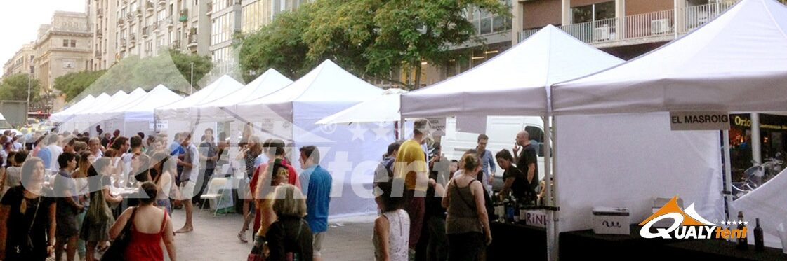 Carpas plegables para ferias de alquiler en Barcelona