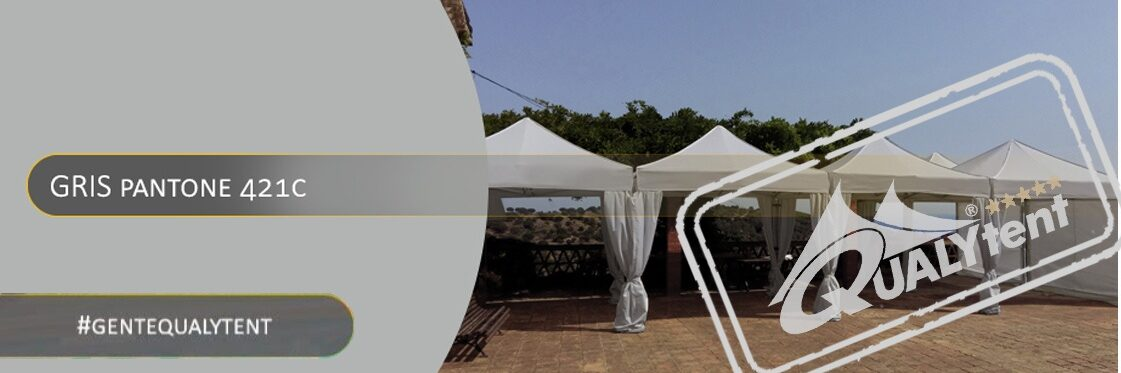 Carpas plegables de color gris Qualytent Premium