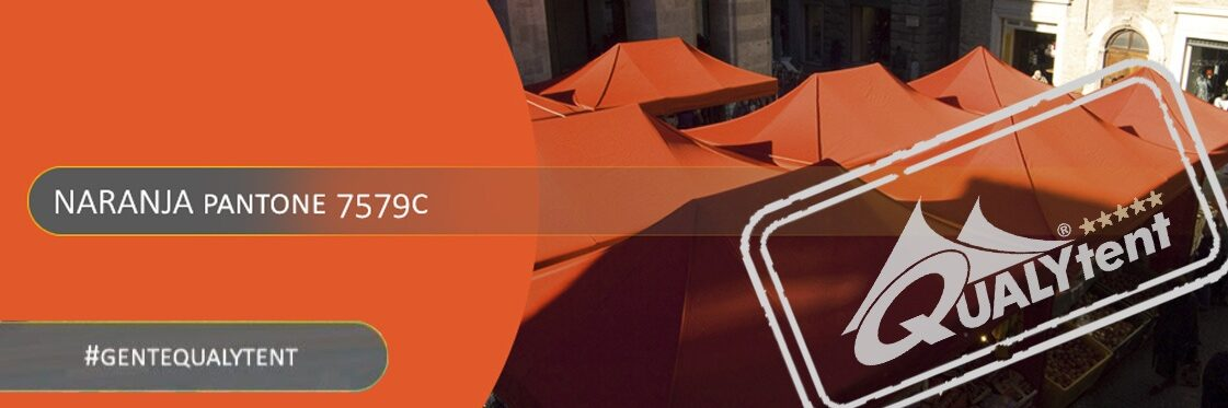 Carpas plegables naranjas Qualytent Premium