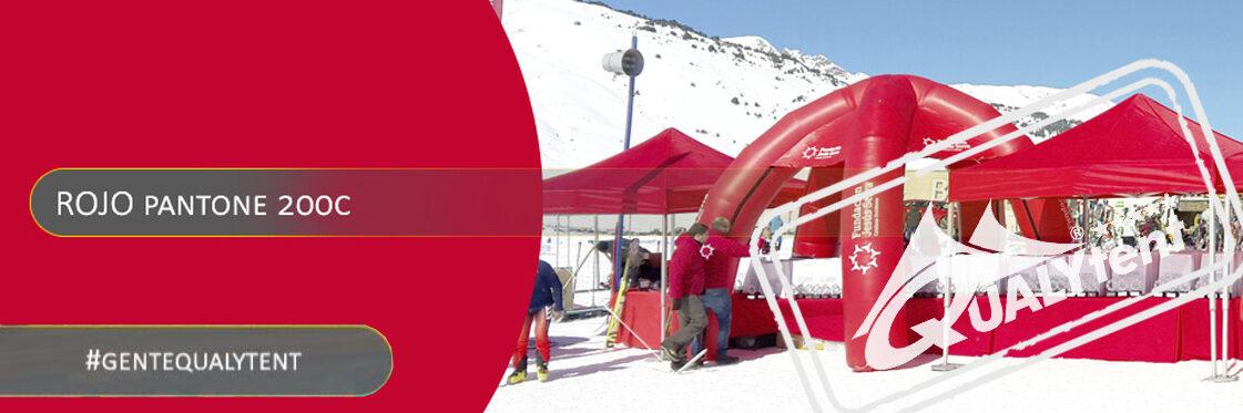 Carpas plegables rojas Qualytent Premium
